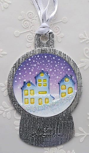 snow globe tag copyright Linda snilazpace.com
