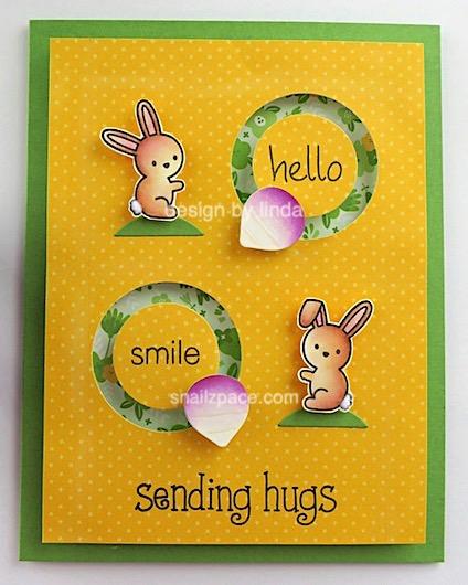 bunny card copyright linda snailzpace.com