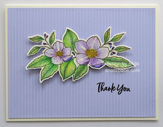 four floral thank you cards copyright linda snailzpace.com