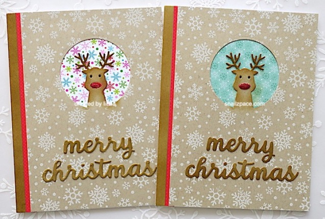 Kraft Christmas card featuring Rudolph the red-nosed reindeer copyright linda snialzpace.com