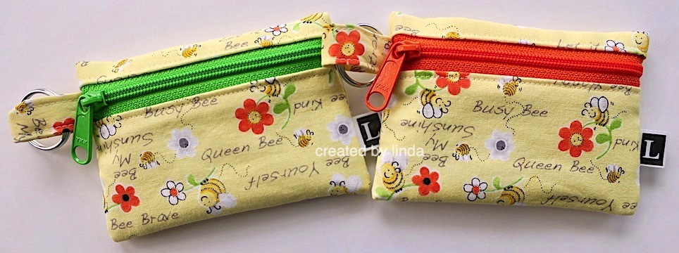 bee coin pouches copyright Linda snailzpace.com