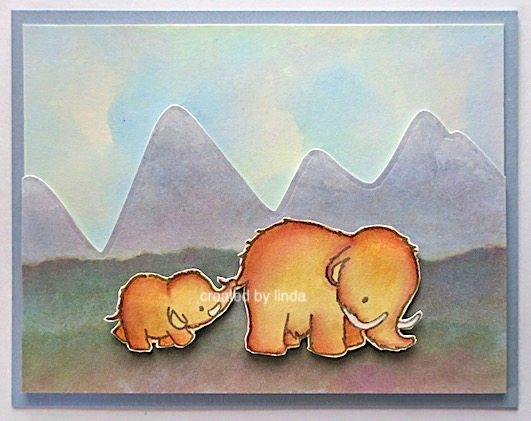 mama elephants mammoth love copyright Linda snailzpace.com