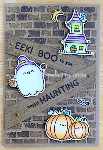 cute halloween card copying right linda snailzpace.com