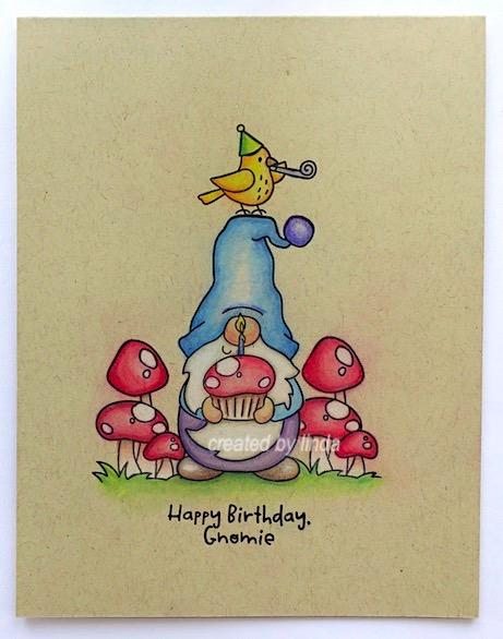 birthday gnome card