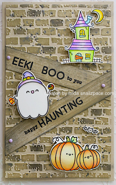 whimsical halloween card using taylored expressions spooktacular stamp set